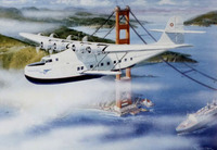 M-130 China Clipper Airplane Art Print