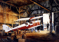 de Havilland Tiger Moth Airplane Art Print
