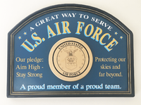 U.S. Air Force Wood Sign