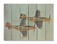 P-51 Mustang Wingman Indoor Outdoor Art - Large