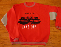 Red Take-Off Airplane Sweatshirt <font color=red>Special Sale</font>