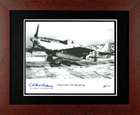 P-51 Mustang Old Crow Print Signed by Bud Anderson