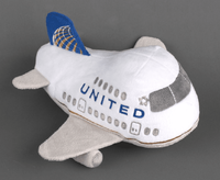 United Airlines Airplane Plush with Sound