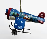 Blue Airplane Ornament