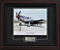 P-51 Mustang Skin Relic with Photo