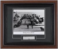 B-25 Airplane Relic with Doolittle Raid Photo