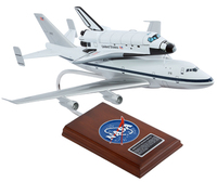 Shuttle Carrier Aircraft with Orbiter Model