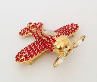Rhinestone Airplane Brooch | <font color=red>Sorry now sold out</font>