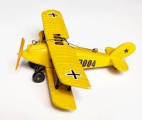 Yellow Biplane Ornament