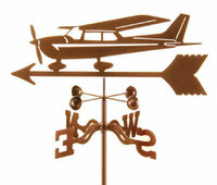 Steel Cessna Style Airplane Weather Vane