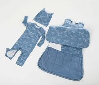 Baby Swaddle Sack Set with Airplane Design