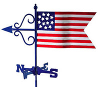 American Flag Weathervane, Garden Size