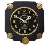 Metal Altimeter Wall Clock | Black
