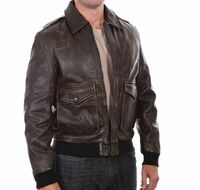 A-2 Style Leather Bomber Jacket | <font color=red>Santa Saver</font>