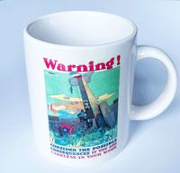 Warning! Airplane Coffee Cup