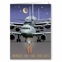 Santa's #1 for Take-Off Greeting Cards | Save 50%