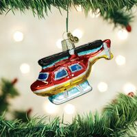 Glass Helicopter Ornament  | Just Reduced