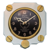 Metal Altimeter Wall Clock | Aluminum