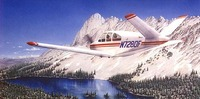 Beechcraft Bonanza V Tail Airplane Aviation Art Print
