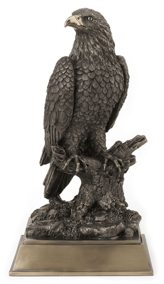 Large Bronzed Eagle Sculpture