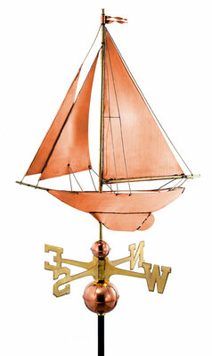 Racing Sloop Sailboat Weather Vane