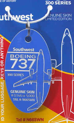 Southwest Boeing 737-300 Airplane Tags