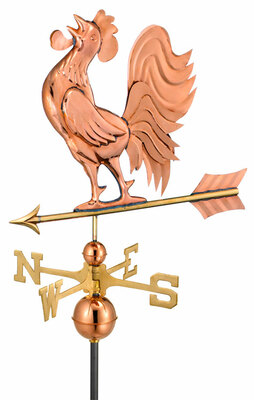 Crowing Rooster Weather Vane