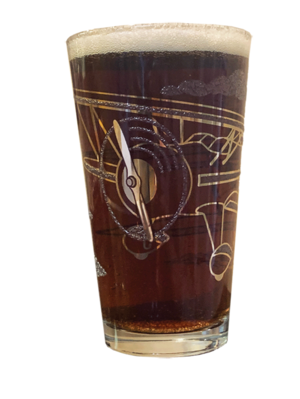 Biplane Pint Drinking Glass | Set of 2