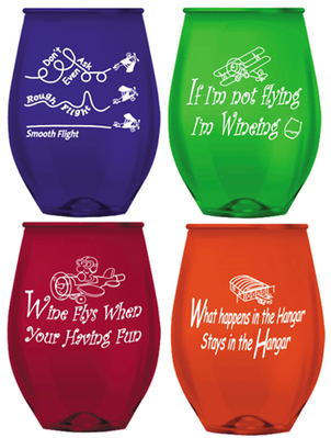 Aviation Shatter Resistant Party Glasses | Set of 4