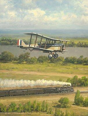 de Havilland DH-4 Art on Canvas