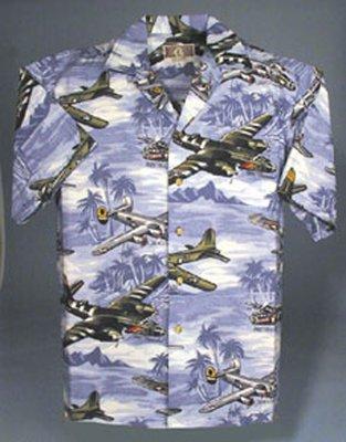 Warbirds Hawaiian Airplane Shirt