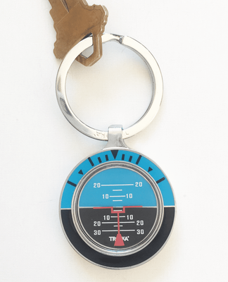 Artificial Horizon Keyring | Personalization Available | Watch Video
