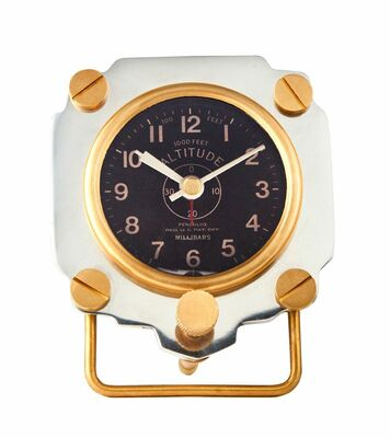 Altimeter Alarm Clock | Aluminum <font color=red><b>Super Sale Item</font></b>