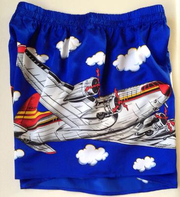 Silk Airplane Boxer Shorts