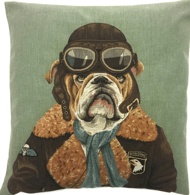 Aviator Dog Throw Pillow Covers