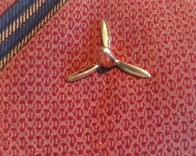 14k Gold 3-Blade Propeller Tie Tack or Lapel Pin