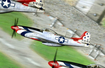 P-51 Mustang Airplane Art Print