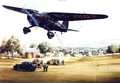 Stinson Reliant Airplane Art Print