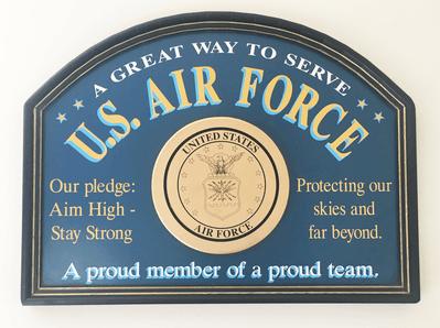 U.S. Air Force Wood Sign