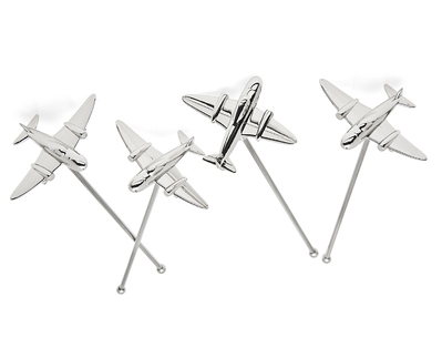 Airplane Cocktail Stirrers - Set of 4