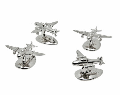 Airplane Place Card Holders Set of 4