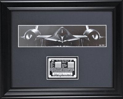 SR-71A Blackbird Photograph with Autograph