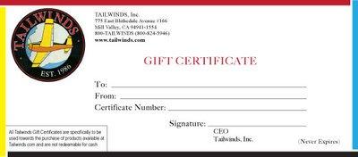 Gift Certficate for pilot - $100
