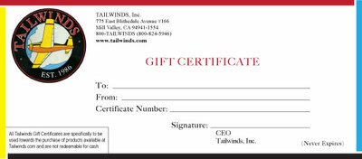 Gift Certificate for pilot - $250