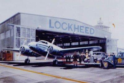 Lockheed Electra Airplane Print