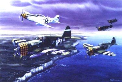 P-47 Thunderbolt and P-51 Mustang Art Print