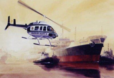 Bell 206 Jet Ranger Helicopter Print