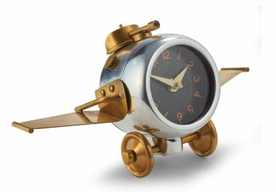 Metal Airplane Clock