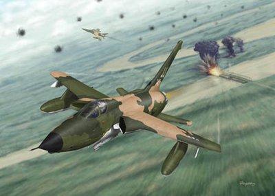 F-105 Thunderchief Airplane Art Print