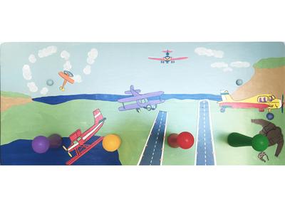 Child's Airplane Peg Rail